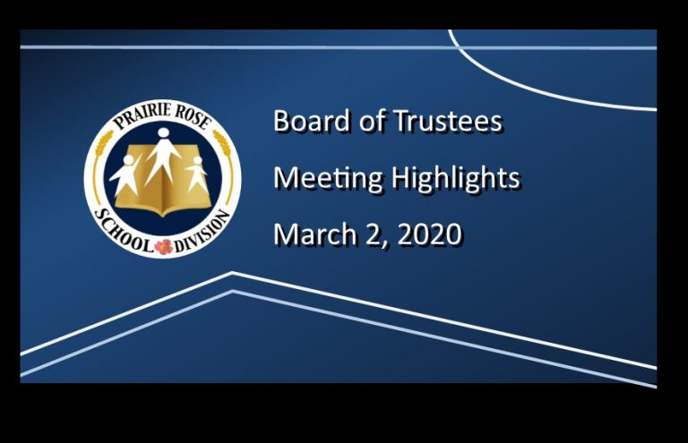 Highlights from the March 2, 2020 Board Meeting
