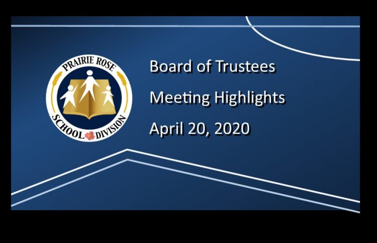Highlights of the April 20, 2020 Board Meeting