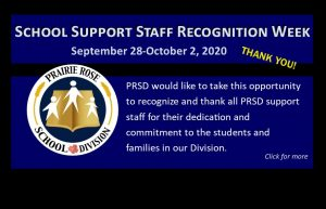 Support Staff Recognition Week