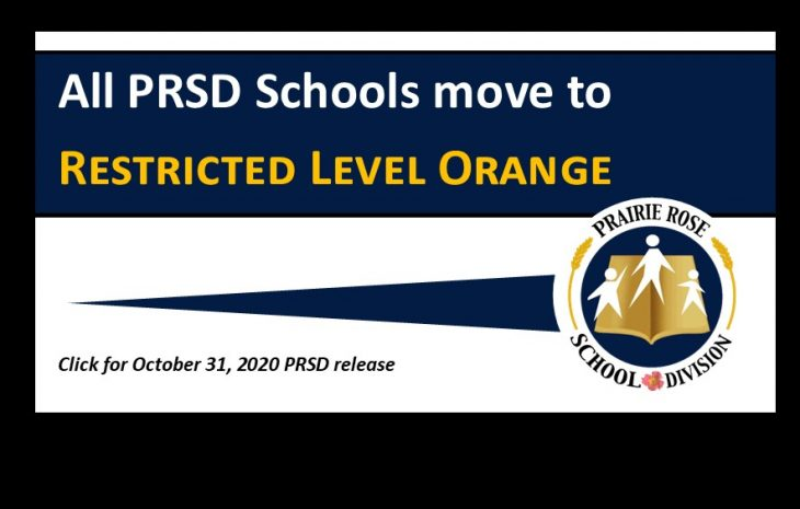 All PRSD Schools move to Restricted Level Orange