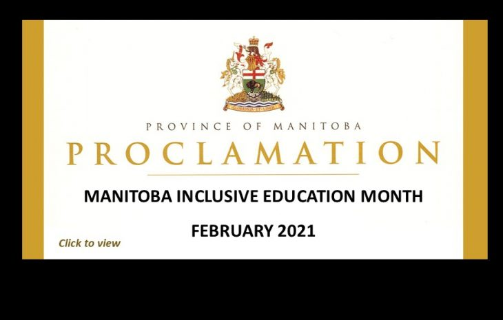 February 2021 – Manitoba Inclusive Education Month