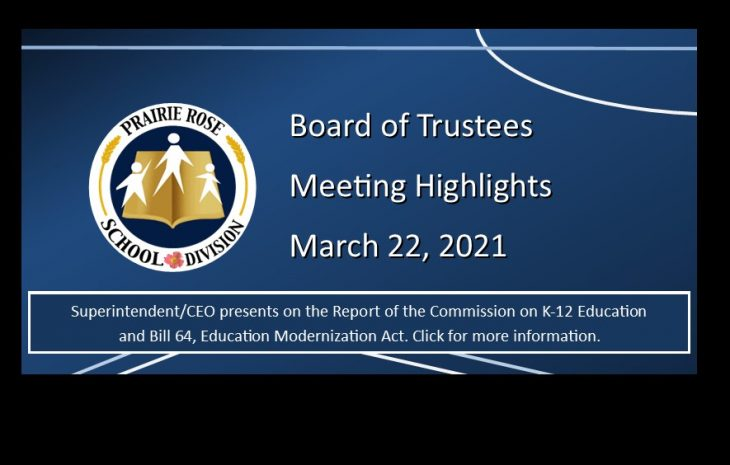 Board Meeting Highlights – March 22, 2021