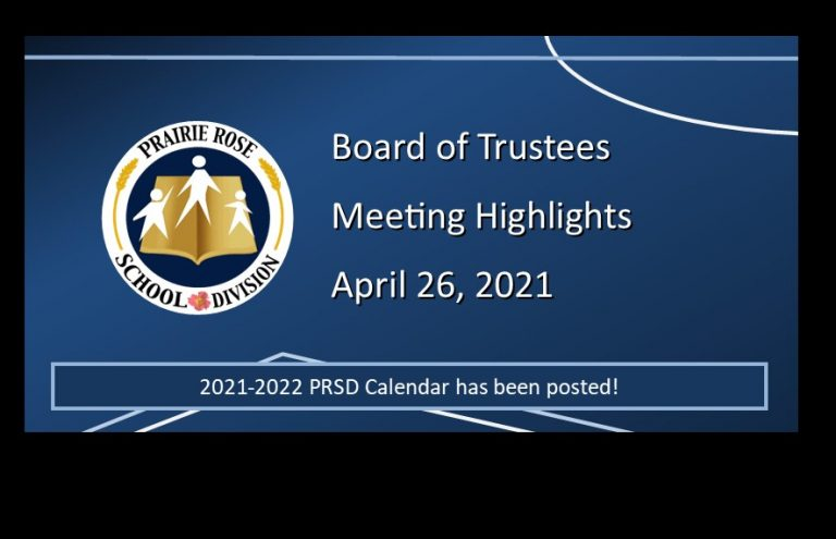 Highlights from the April 26, 2021, Board Meeting