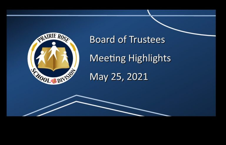 Highlights from the May 25, 2021, Board meeting