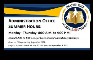 Division Office Summer Hours