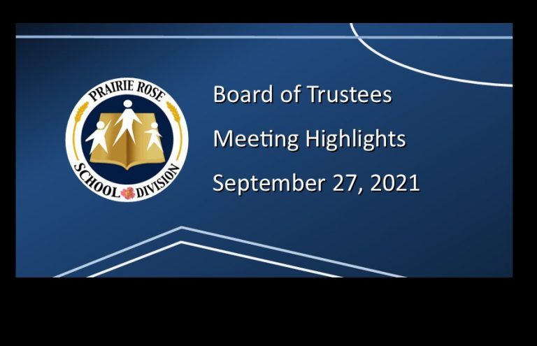 Highlights of the September 27, 2021, Board meeting