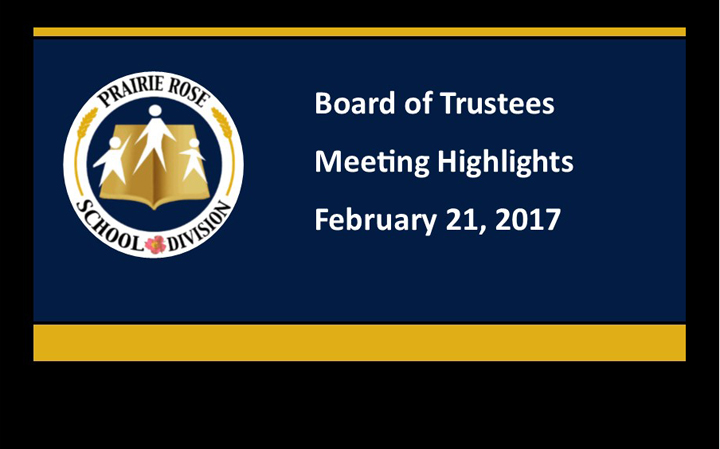 Board of Trustee Meeting Highlights for February 21, 2017