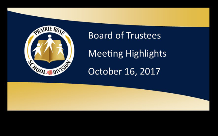 Highlights of the October 16 Board meeting