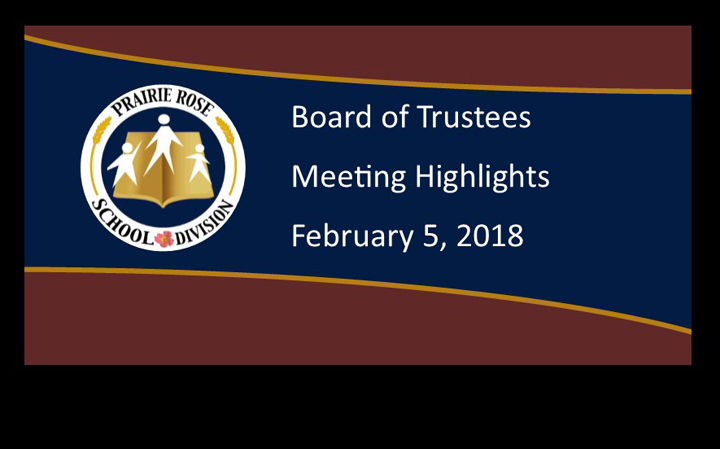Board Highlights for February 5, 2018