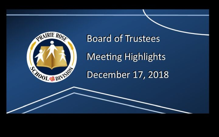 Highlights of the December 17, 2018 Board meeting