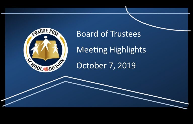 Highlights of the October 7, 2019 Board Meeting