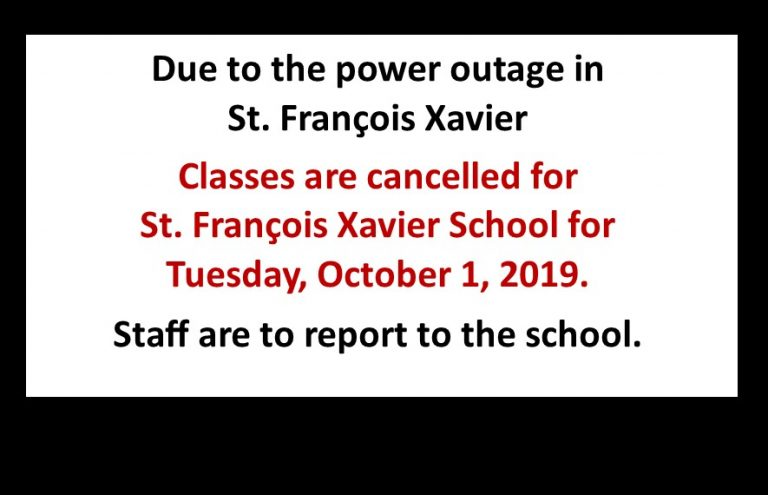 Classes Cancelled in SFX Oct 1 2019