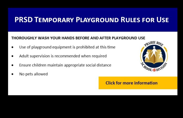 PRSD Temporary Playground Rules