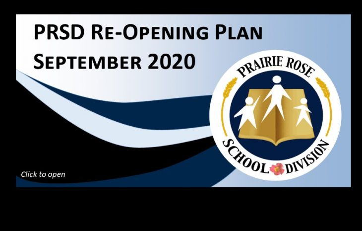 PRSD RE-OPENING PLAN, September 2020