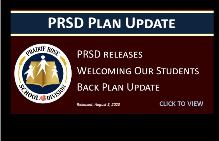 PRSD Plan Update - Welcoming Our Students Back