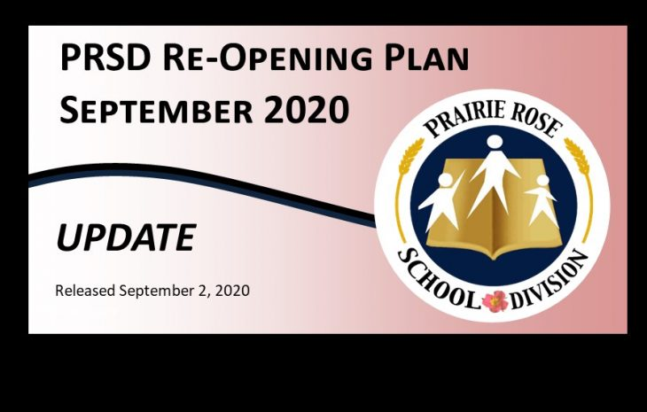 PRSD Re-Opening Plan Update – September 2, 2020
