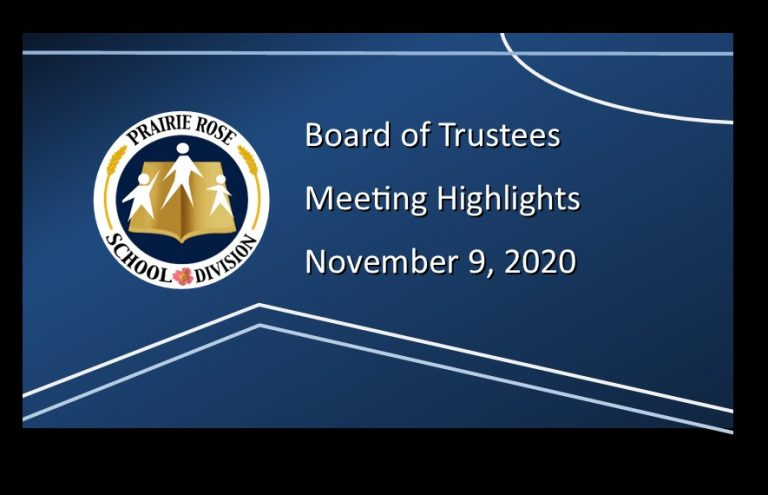 Highlights of the November 9, 2020, Board meeting