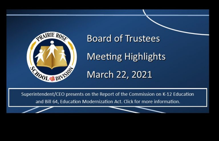 Highlights of the March 22, 2021, Board meeting