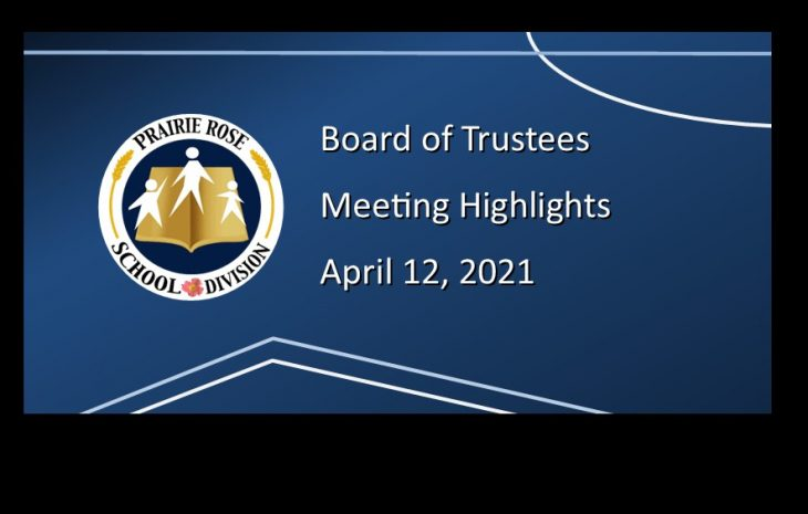 Board Meeting Highlights – April 12, 2021