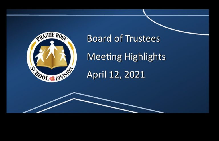 Highlights of the April 12, 2021, Board meeting