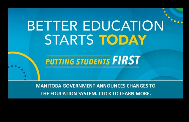 Manitoba Announces Changes to Education