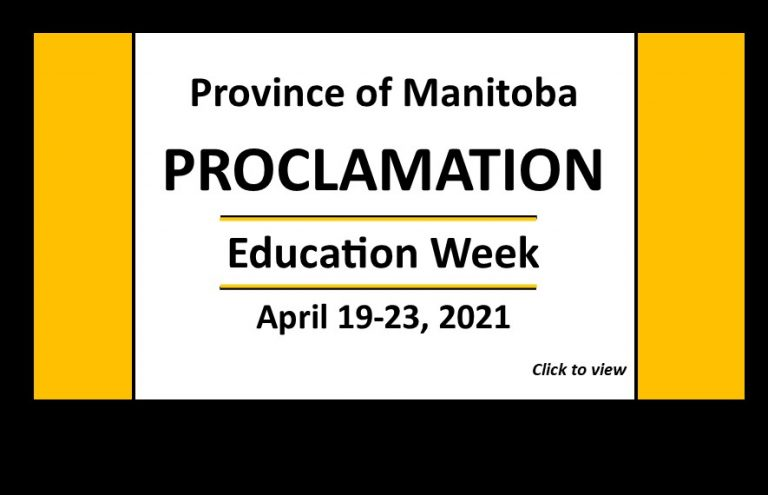 Province proclaims April 19 to 23 Education Week