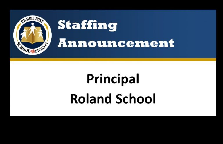 Announcement of Principal for Roland School